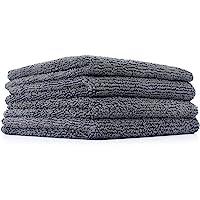 The Rag Company (4-Pack) 10 in. x 10 in. Mini-Miner Professional Metal POLISHING & Detailing 70/30 365gsm Microfiber Towels