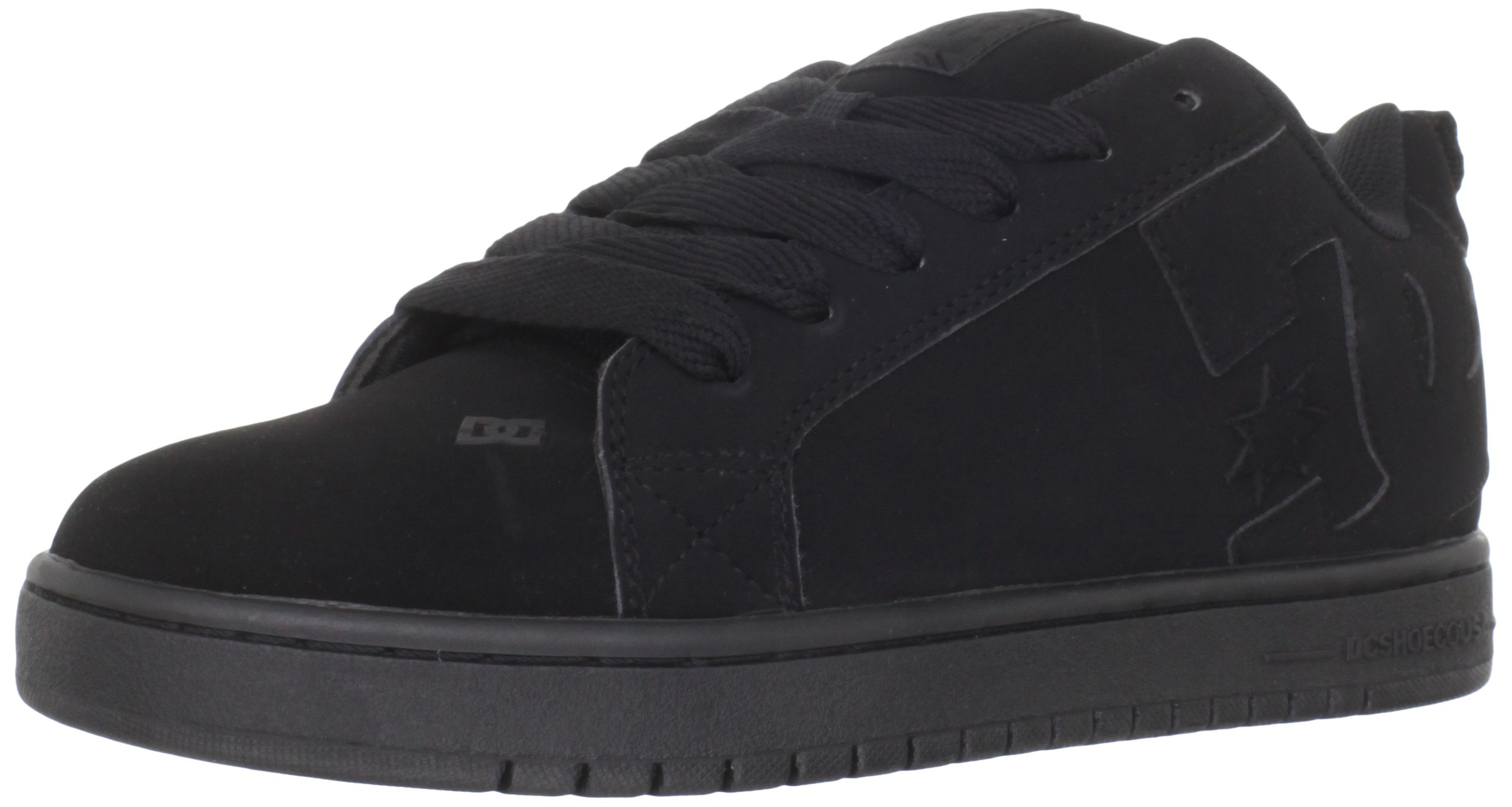 DC Men's Court Graffik Skate Shoe,  Black/Black/Black, 14 D D US by DC
