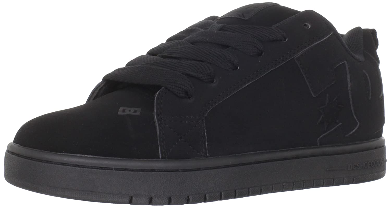 DC Shoes Men's Court Graffik Shoes Black/Black/Black 9.5 300529