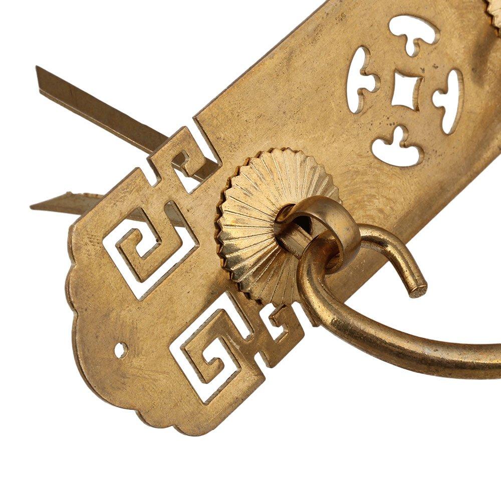 Chinesischer Schrank Kommode Schublade Messing Griff Zugknopf Mit U-Form Pin 130x35mm Ziehgriff