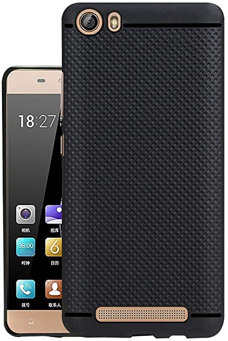 cheap for discount 7f940 7f17b Jkobi® 360* Protection Dotted Designed Soft Rubberised Back Case Cover for  Gionee Marathon M5 Lite -Black