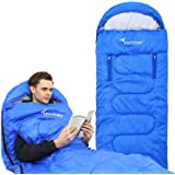 Sportneer Sleeping Bag Wearable Lightweight Waterproof Sleeping Bags with Zippered Holes for Arms and Feet, Sleeping Bag for