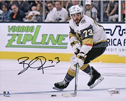 3e08130b2f4 Image Unavailable. Image not available for. Color  Brandon Pirri Vegas  Golden Knights Autographed 8 quot  x 10 quot  White Jersey Skating  Photograph -