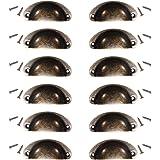 KING DO WAY Set di 12 Pezzi di Maniglia di Mobile, Pomelli di Shell in Stile Vintage per Cassetti/Mobili