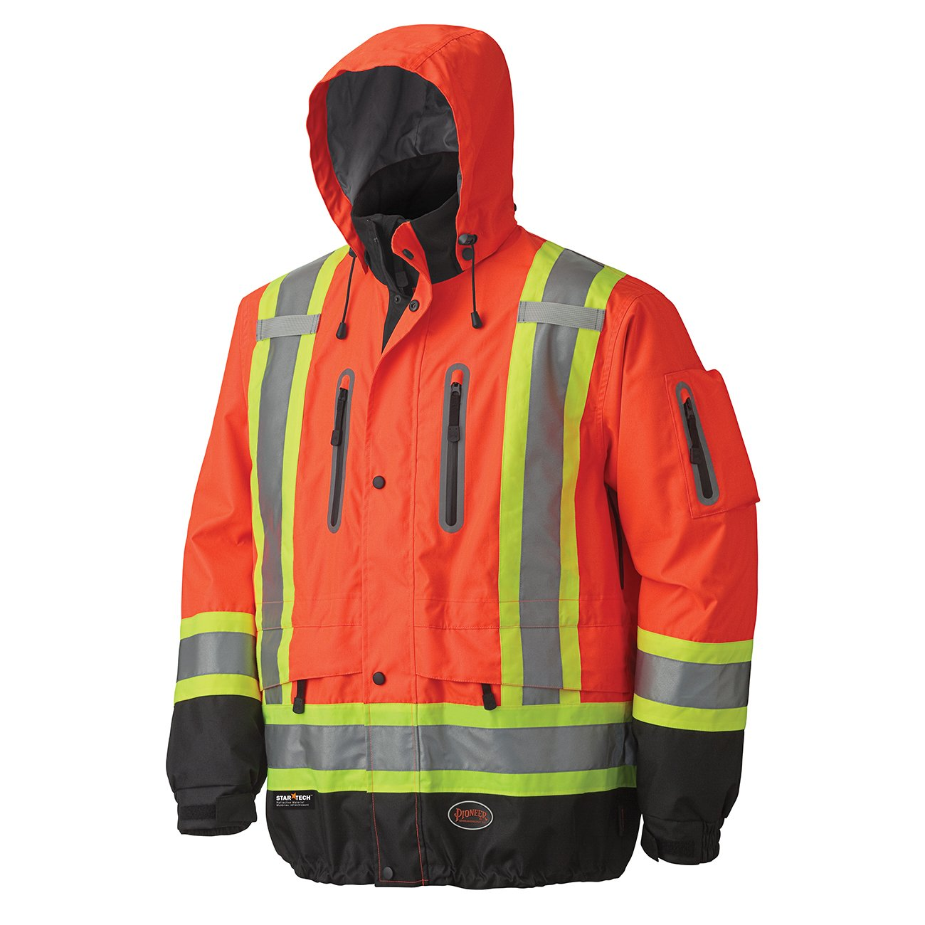 Pioneer V1130160-XS Premium High Visibility Safety Jacket-Waterproof, Green, X-Small