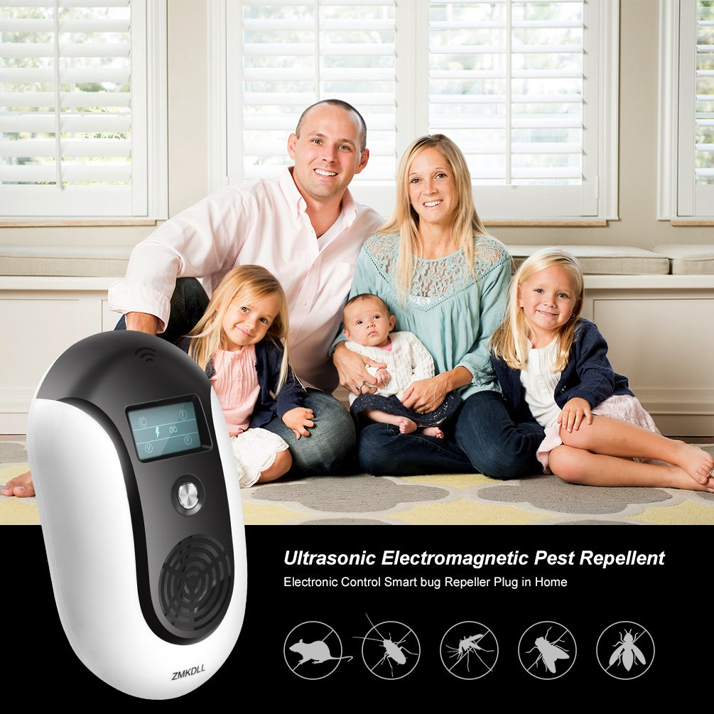 Zmkdll Pest Repellent Ultrasound Ultrasonic Mosquito Repeller Insect And Bug Electronic Kit Control Smart Plug Squirrel To Repel Prevent