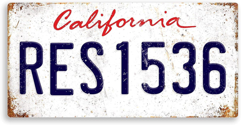 Montana Sticky Pads Plaque d/'immatriculation am/éricaine personnalisable avec nom personnalis/é en m/étal imprim/é