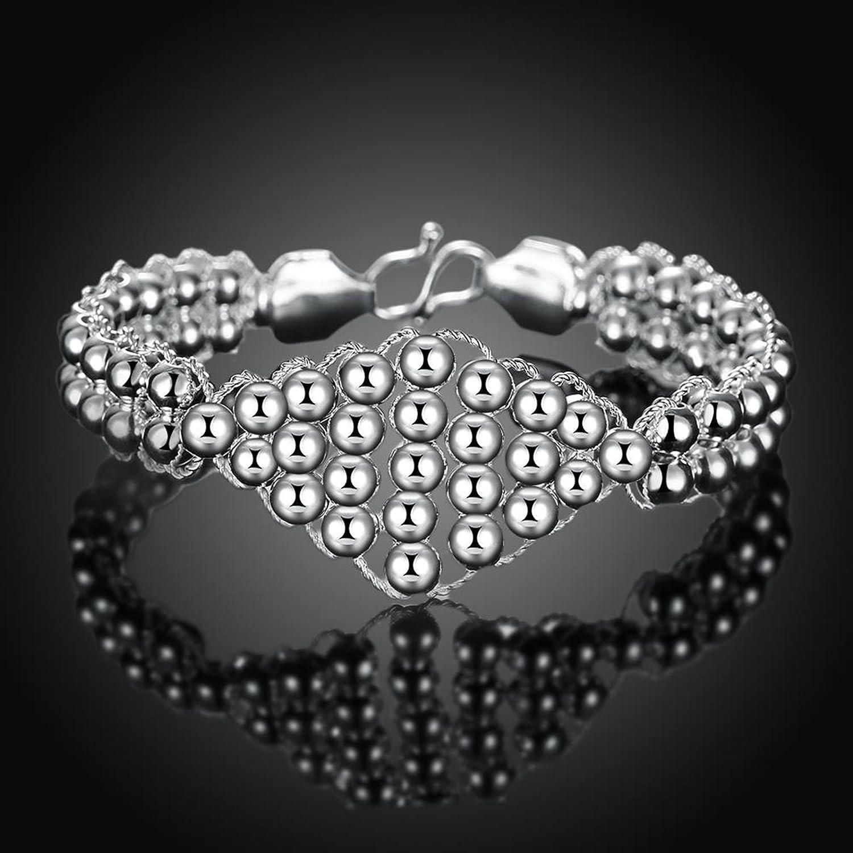 Gnzoe Fashion Jewelry Copper Silver Easy Hook Rope Bead Shape Bracelet Bangle For Women Girls Brides
