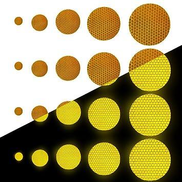 Tuqiang Forma Redonda Cinta Reflectante Impermeable Pegatina para Silla de Ruedas Bastón Calzado Alta Visibilidad Cinta Adhesiva Reflectante 25 Piezas ...