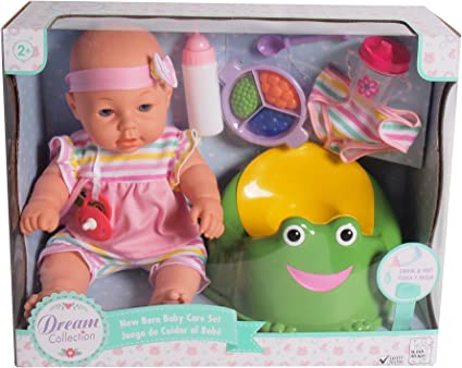 DREAM COLLECTION 16 Baby Doll Care Set with Potty
