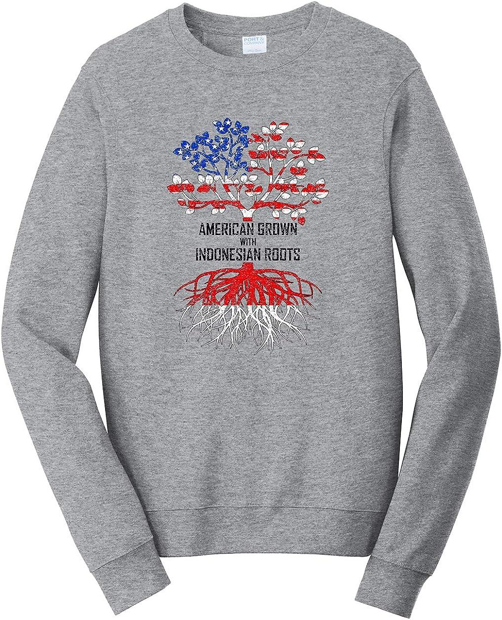 Tenacitee Unisex American Grown with Indonesian Roots Sweatshirt