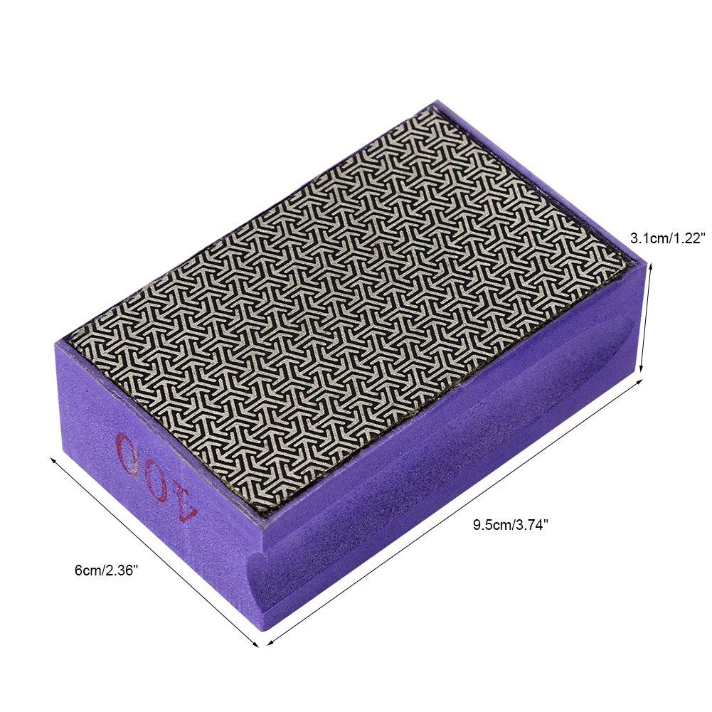 Zerodis 60-400 Grit Diamond Hand Polishing Pads Hand Sanding Pad Diamond Stone Sharpener Stone Marble Glass Granite(#400) by Zerodis (Image #7)