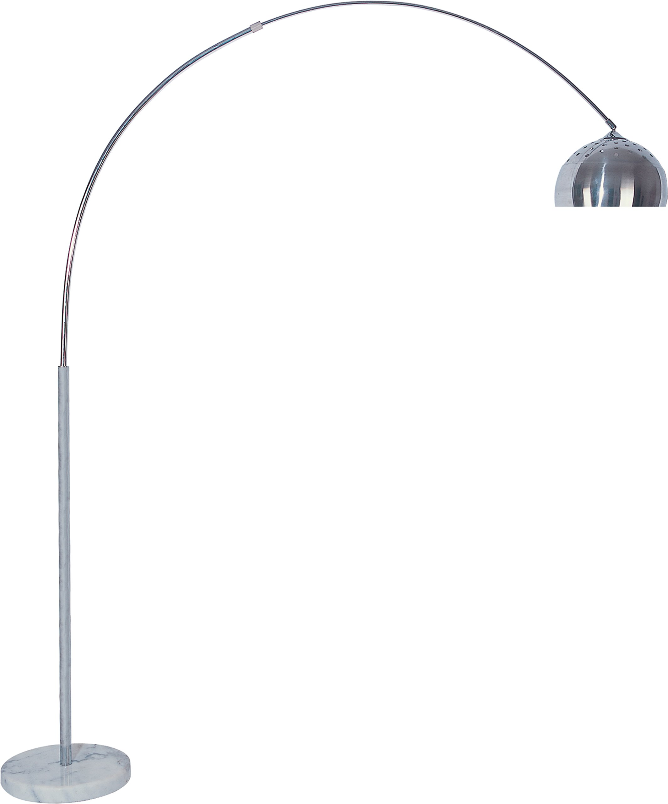 Milton Greens Stars Skyler Adjustable Arc Floor Lamp with Marble Base, 81-Inch