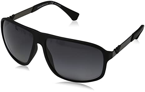 007f50516bfc Emporio Armani Sunglasses 4029 5063T3 Black Rubber Grey Gradient Polarized
