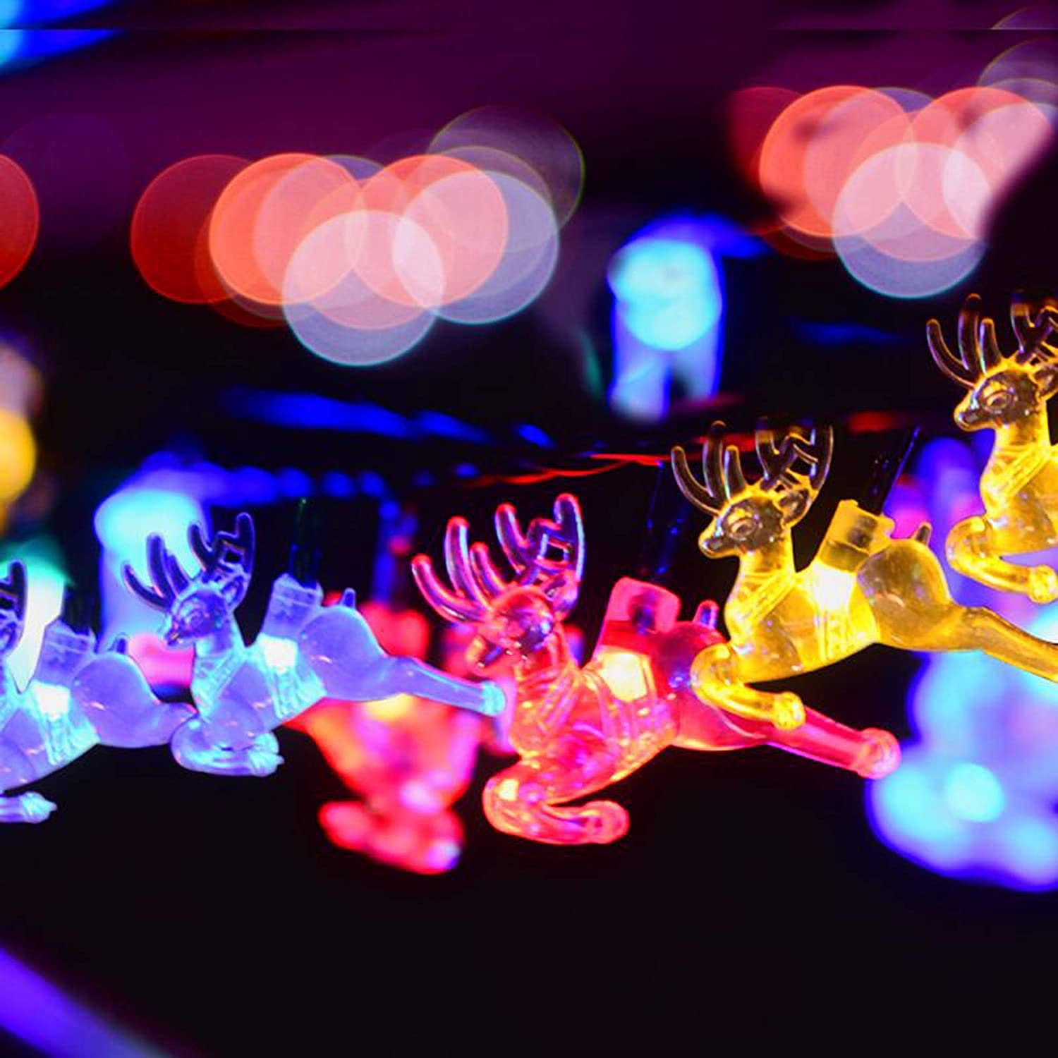 Christmas String Lights - Waterproof Battery Operated String Lights, 23Ft 50LED Christmas Decorative Lights Fairy Lights, 8 Modes Battery Powred String Lights for Xmas Tree & Party
