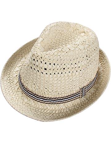 Skyeye Sombrero de Paja de los Niños UV de la Manera Visera de sol del Bebé 45c134d1d43