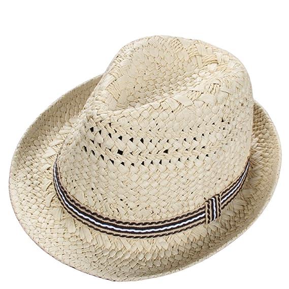 Leisial Sombrero de Paja para los Niños Hueco Sombrero de Jazz Gorro  Protector Solar Sombrero de Playa Sol al Aire Libre del Verano Beige  Amazon .es  Ropa y ... 1bdd705c579