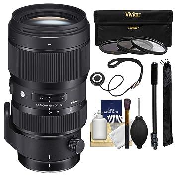 Sigma 50 - 100 mm f/1,8 Arte DC HSM Objetivo Zoom con 3 filtros + ...