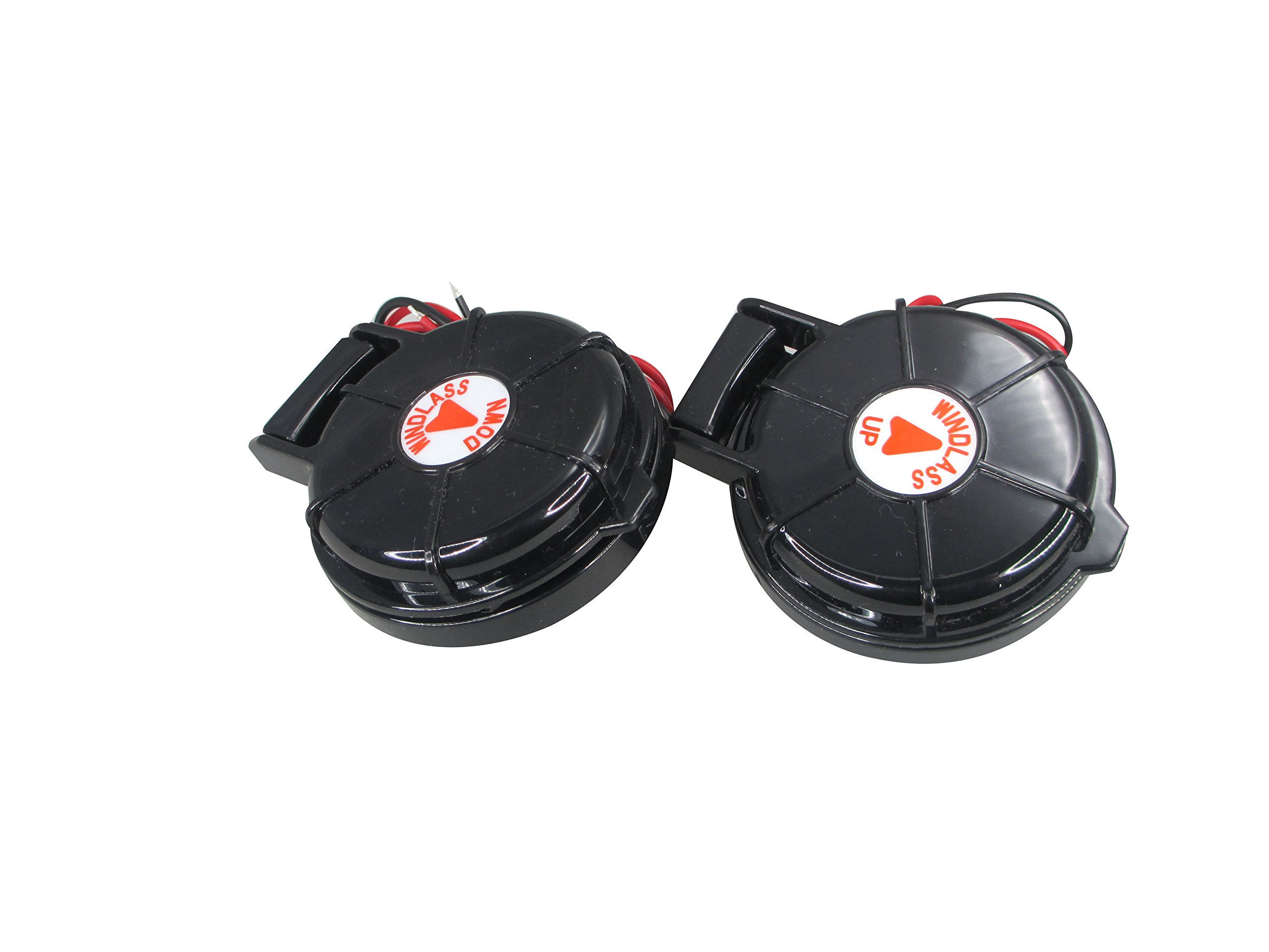 Pactrade Marine Boat Anchor Windlass Winch Foot Compact Switch Black 2 pcs Up & Down 12/24v 5A