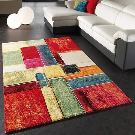 paco home tapis moderne splash de marque colore modele carrele neuf eo dimension 160x230 cm