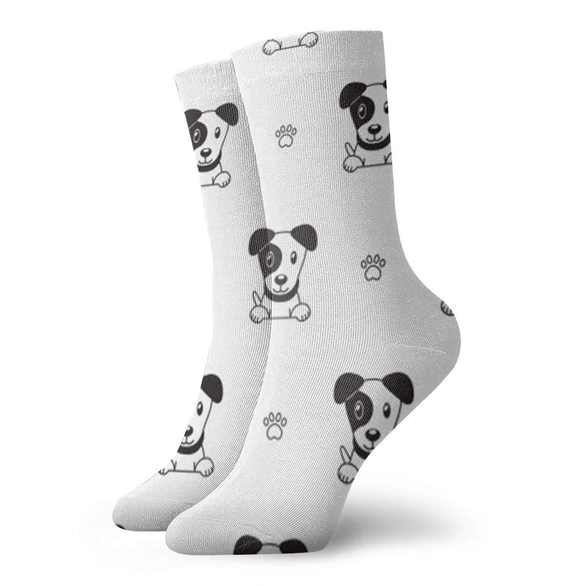 Terrier Dog Unisex Funny Casual Crew Socks Athletic Socks For Boys Girls Kids Teenagers