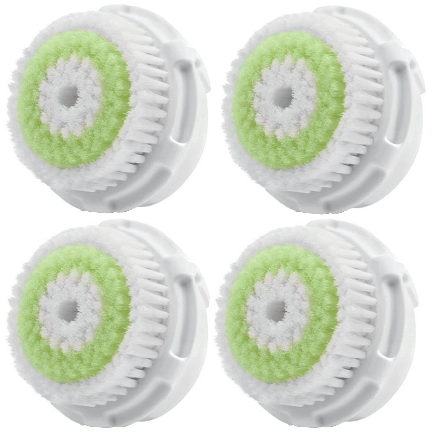 LSQtronics Acne Facial Cleansing Brush Heads for Clarisonic. Face Cleansing Brush Heads for Daily Skin Care. Compatible with Clarisonic MIA, MIA 2, ARIA, PRO and PLUS Cleansing Systems (4-Pack Brush Head for Acne Facial Cleansing)