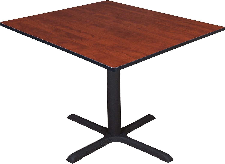 "Regency Cali Square Breakroom Table, 48"", Sangria"