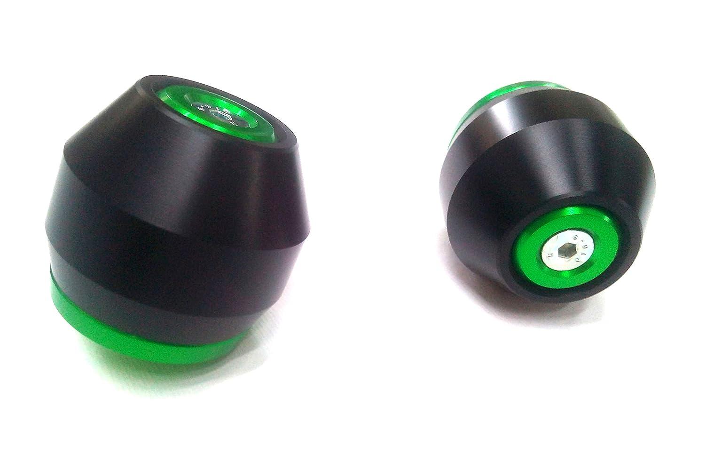 euromotorstore PAR de Almohadillas rueda Slider verdes para la horquilla delantera La Kawasaki Z 750 Z750 2007, 2008, 2011, 2012 y 2013 Color Verde con tampó n Negro 2012y 2013Color Verde con tampón Negro TFAZ75V