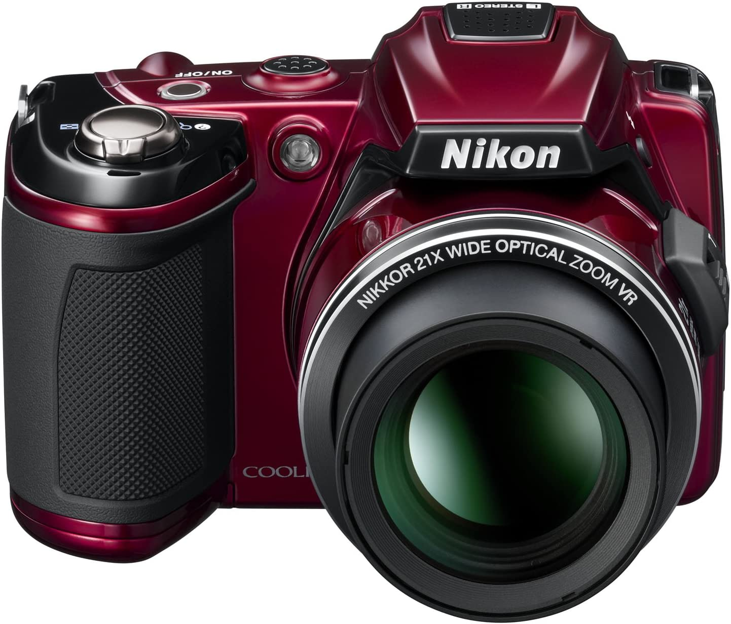 Nikon Coolpix L120 Digital Camera Red 3 Inch Lcd Camera Photo