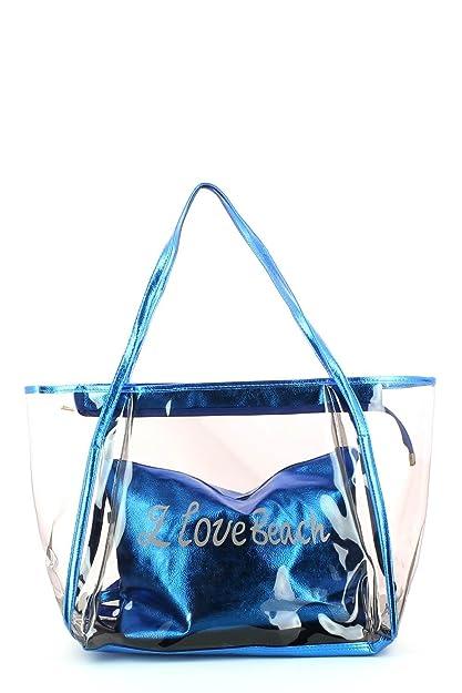 design de qualité 65495 59eff Sac de plage transparent avec pochette métallisé