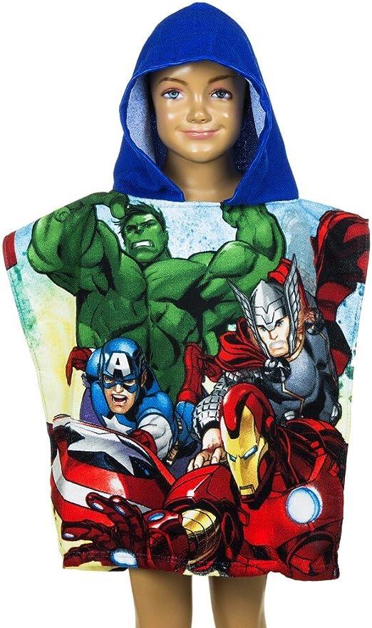 Poncho de ba/ño Disney Avengers capa para ni/ños azul