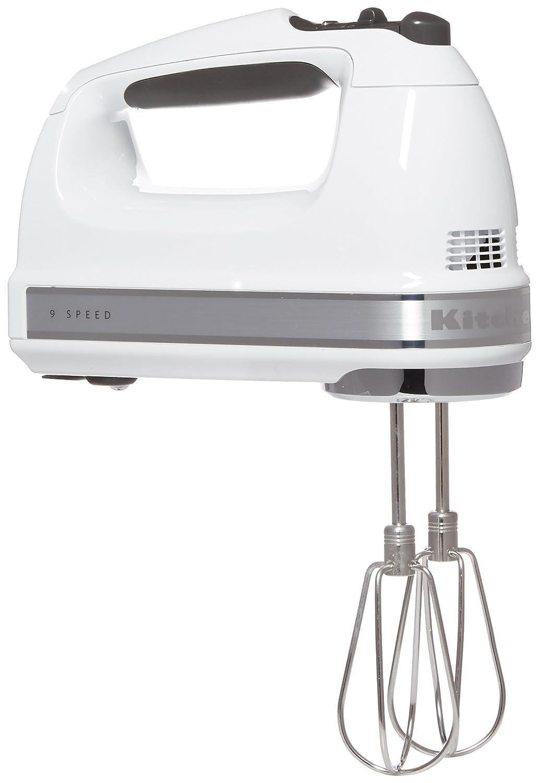 KitchenAid 9-Speed White Hand Mixer
