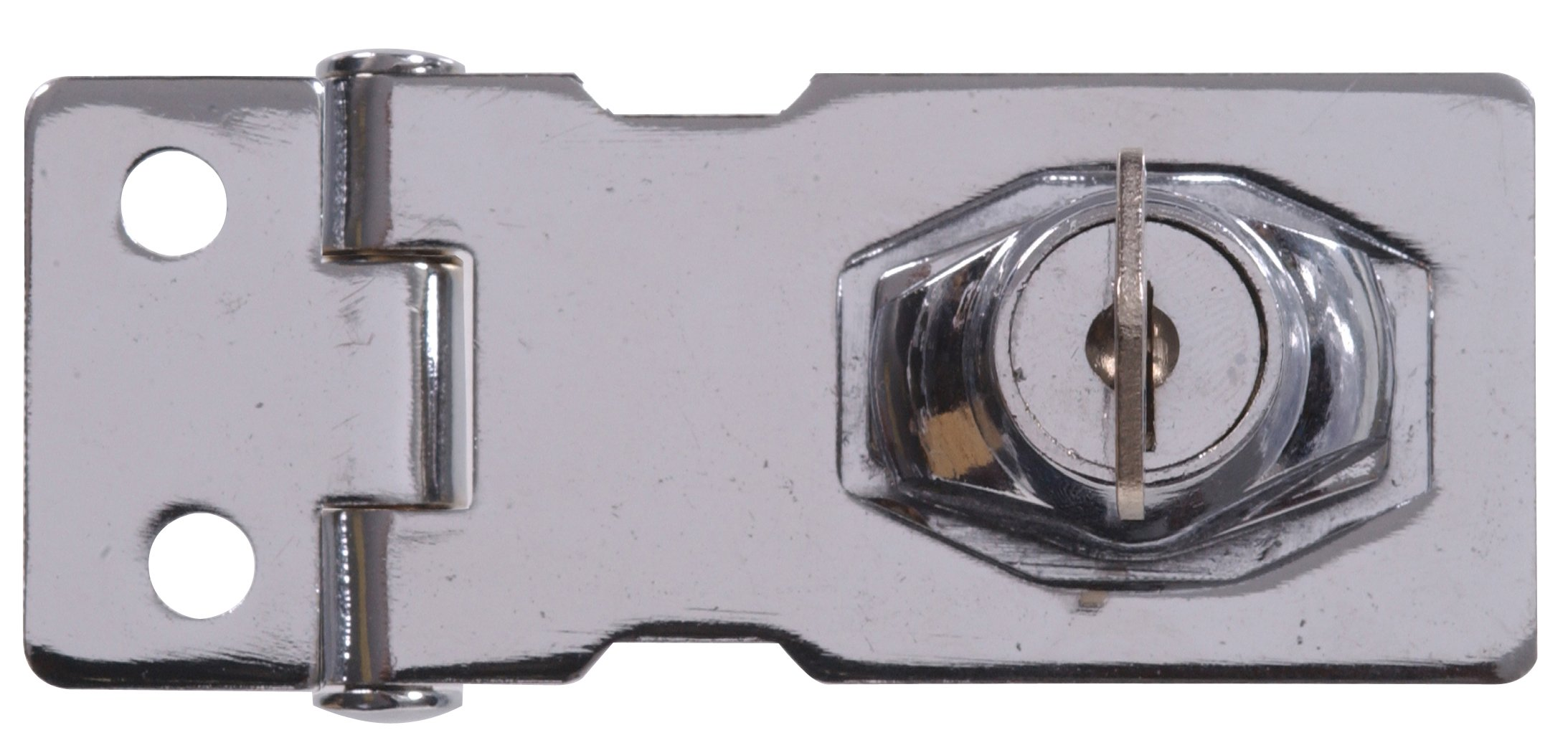 The Hillman Group 851398 4-1/2-Inch Keyed Safety Hasp, Chrome Finish