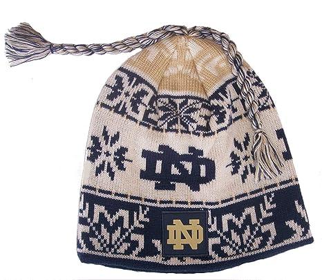 Amazon.com   adidas Notre Dame Fighting Irish Knit Beanie Cap Hat ... 04c2c7d6dae