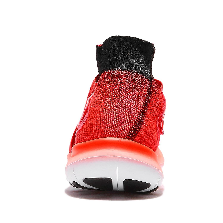 5648851cb688c Amazon.com  Nike Men s Free RN Motion Flyknit 2017 Bright Crimson Black Hyper  Orange Nylon Running Shoes 10 D(M) US  Sports   Outdoors