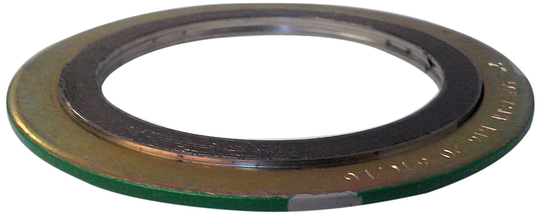 Sur-Seal, Inc. Teadit 90004316GR150 Green Band with Gray Stripe 316LSS/Graphite  Spiral Wound Gasket, -150 to 842 Degrees Fahrenheit Temperature Range, 5.00'' ID, 6.88'' OD, for 4'' Pipe Size