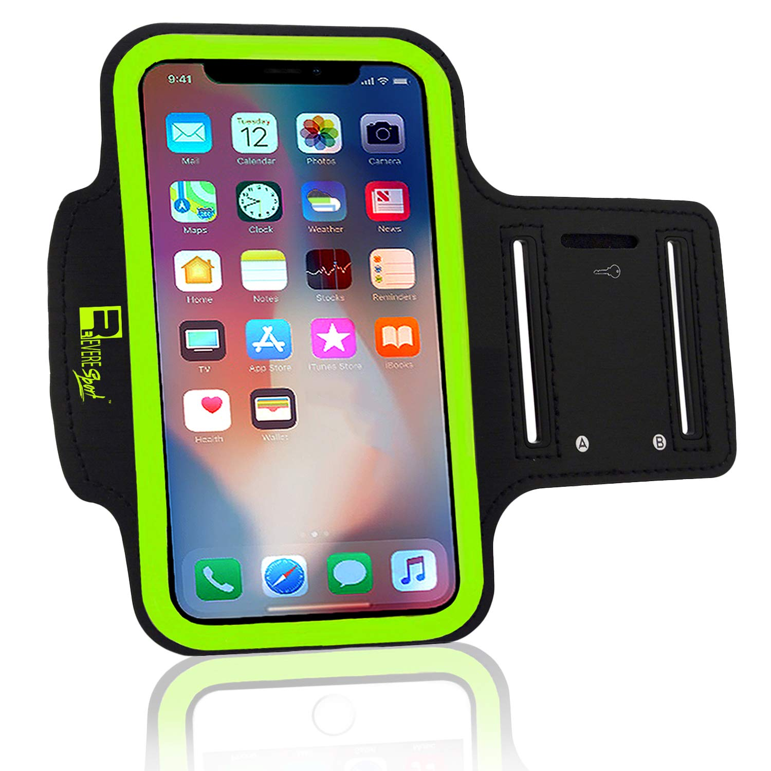 Efficient Sport Armband Running Flip Bag Case For 5 Inch Iphone Samsung Universal Smartphone Phone Earphone Holes Keys Arm Bags Pouch Outstanding Features Armbands Mobile Phone Accessories