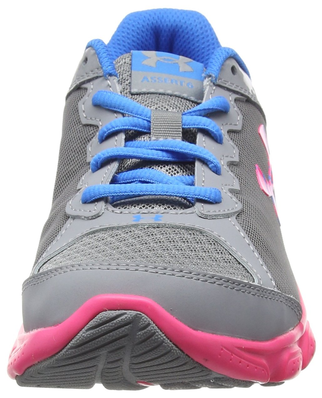 Under Armour Girls' Grade School Micro G Assert 6, Steel (036)/Harmony Red, 5.5 by Under Armour (Image #4)