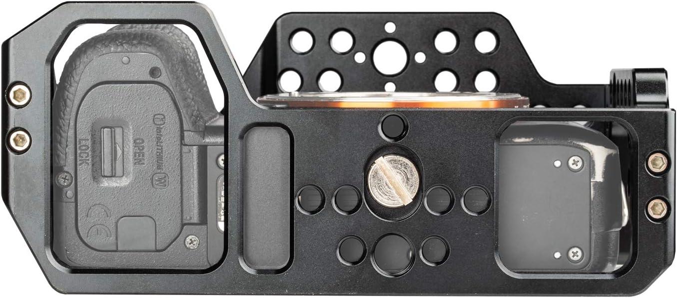 A7II ILCE-7RM3, A7R Mark III Estabilizador de v/ídeo para c/ámara Sony A7RIII A7III con Zapata fr/ía y Orificio de localizaci/ón ARRI FANSHANG