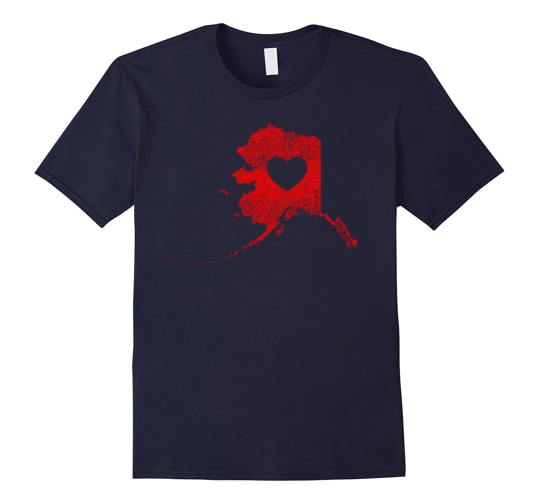 """The Official Alaska """"Love Heart"""" T-Shirt (Red)-Teevkd"""