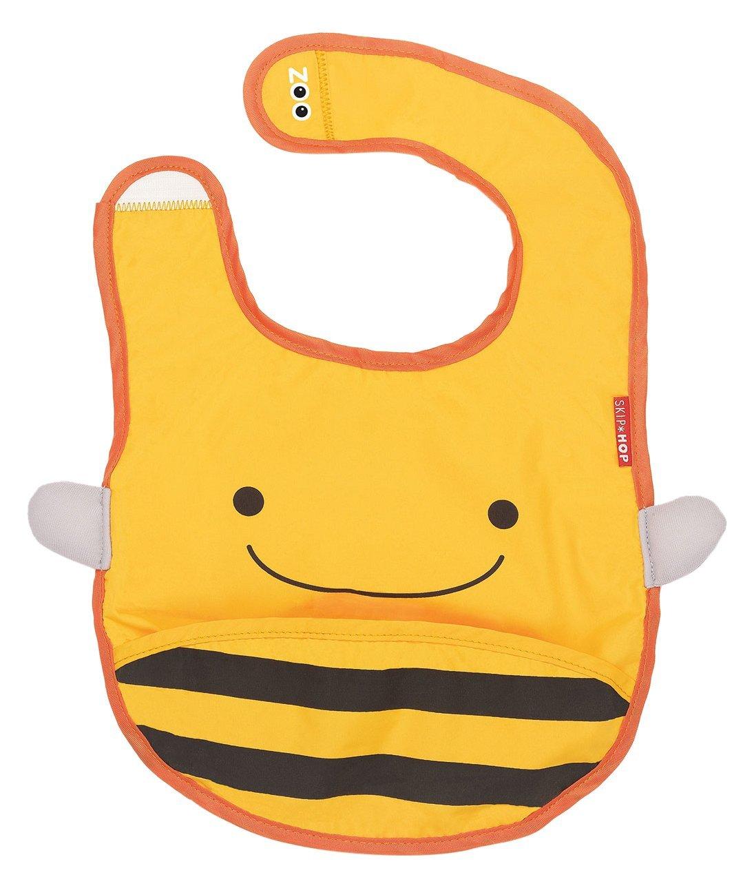 Skip Hop Zoo Infant and Toddler Tuck-Away Bib, Brooklyn Bee, Multi