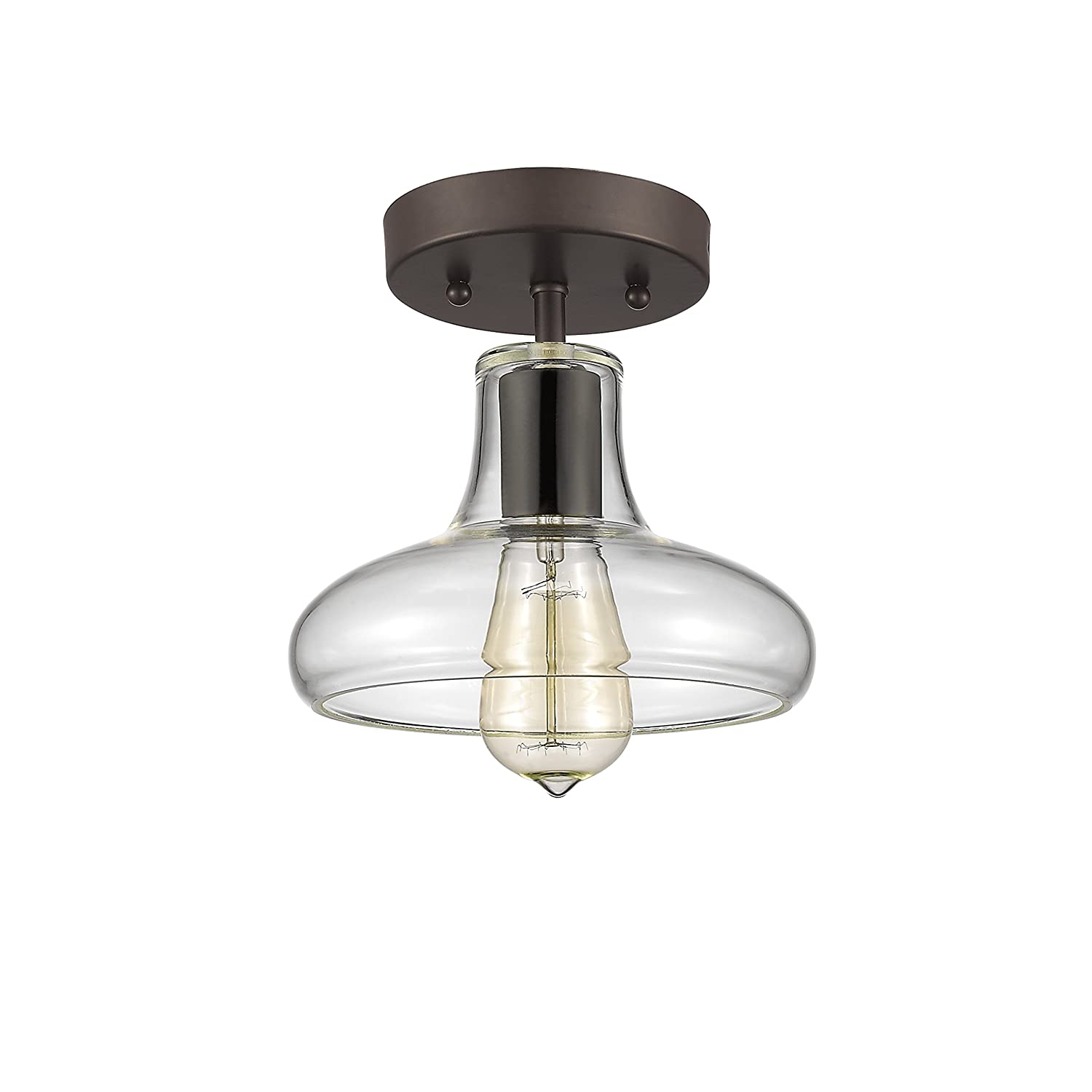 Chloe lighting ch854009cl08 sf1 industrial industrial style 1 chloe lighting ch854009cl08 sf1 industrial industrial style 1 light rubbed bronze semi flush ceiling fixture 8 shade amazon arubaitofo Choice Image