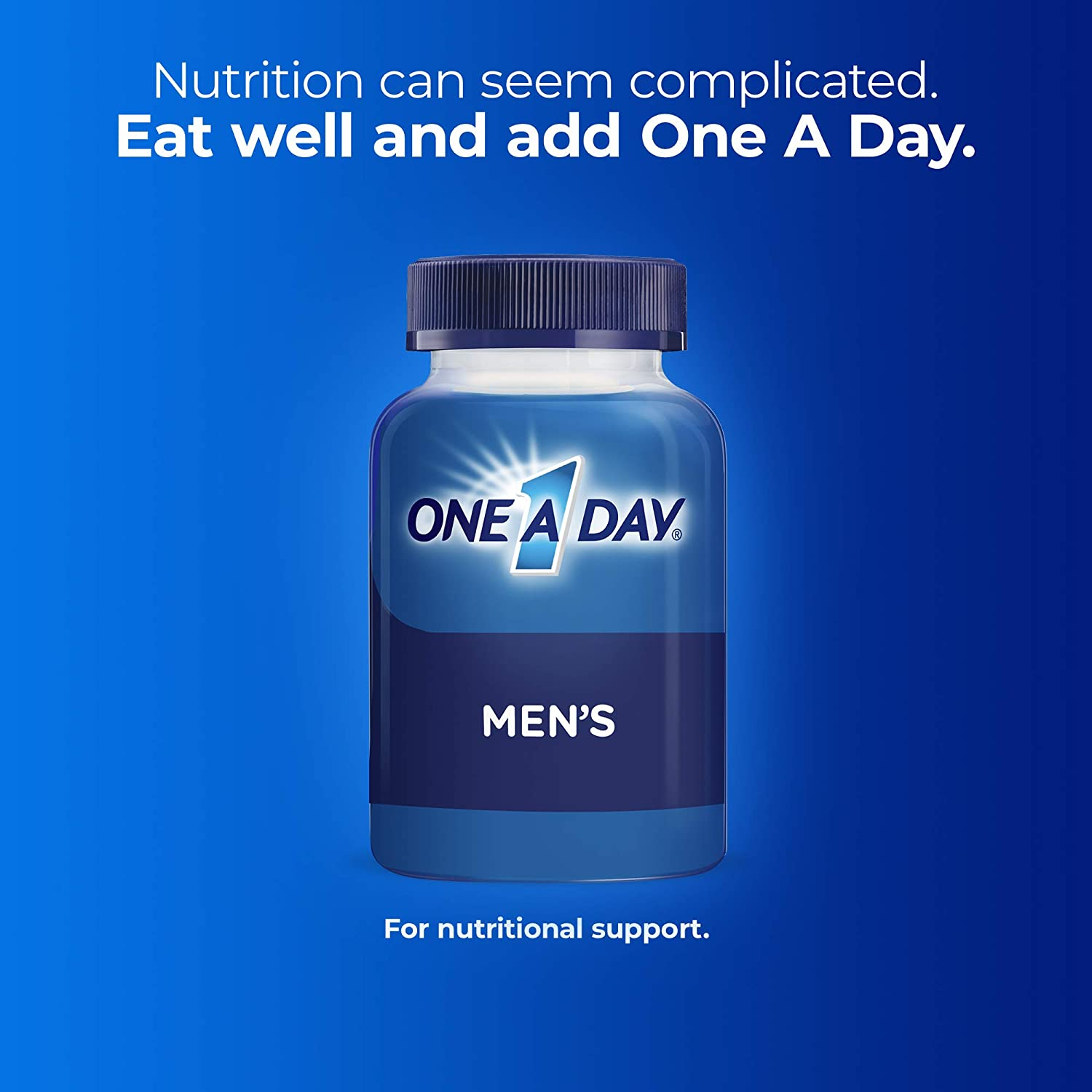 One A Day Men's Multivitamin, Supplement with Vitamin A, Vitamin C, Vitamin D, Vitamin E and Zinc for Immune Health Support, B12, Calcium & More, 200 Count: Health & Personal Care