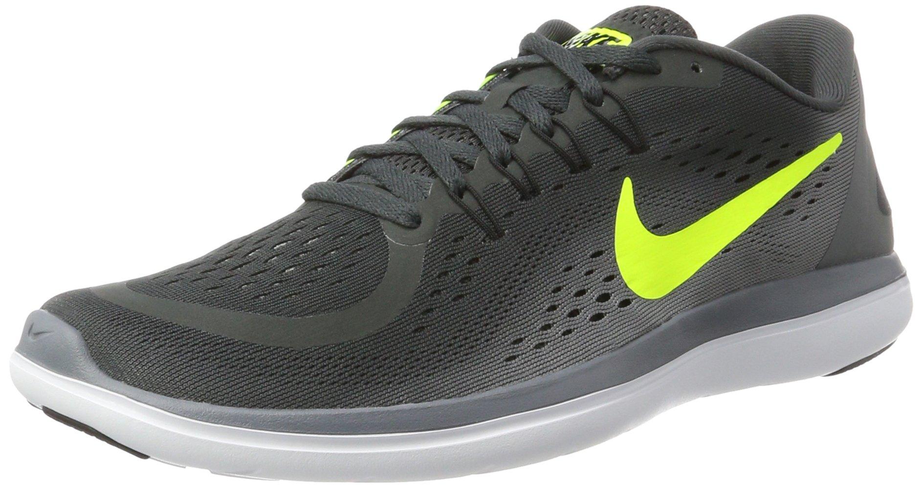 NIKE Men's Flex RN 2017 Running Shoe Anthracite/Volt/Cool Grey/Black Size 8.5 M US