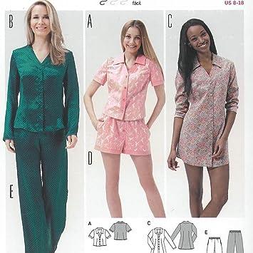 Patron De Pyjama Chemise De Nuit Femme Burda 6742 Amazon