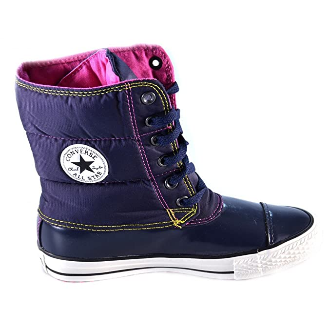 Converse All Star Mid Slushie Boot Synth Twill Nylon 527394c Femme Bottines Bleu Fonc t3yOS
