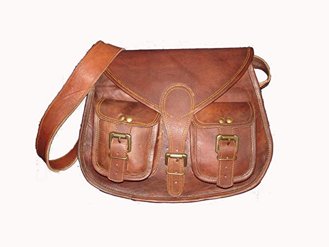 c24f26ba2bafcd 🎁 Handmade Vintage Leather Women Purse Shoulder Bag Crossbody Satchel  Ladies Tote Travel Purse Genuine Leather 10 x 13 Inch | With Free Shipping:  ...