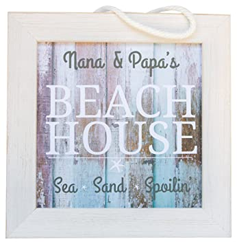 Amazoncom The Grandparent Gift Co Nana Papa Beach House Sign