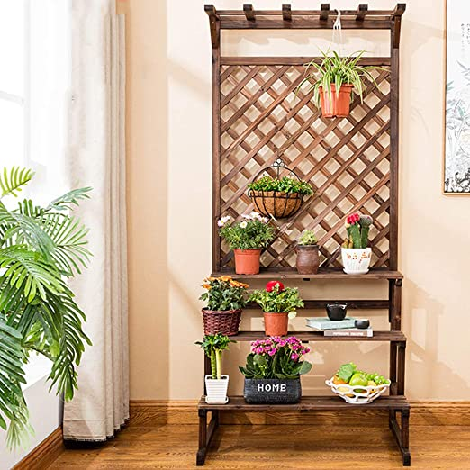 Soporte De Flores Estante Estantería Escalera Estantería Decorativas De Plantas Flores Para Decoración Exterior Interior Jardín Expositor Madera,75 * 70 * 200cm: Amazon.es: Hogar