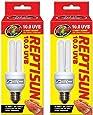 (2 Pack) Zoo Med Reptisun 10.0 Uvb Mini Compact Fluorescent